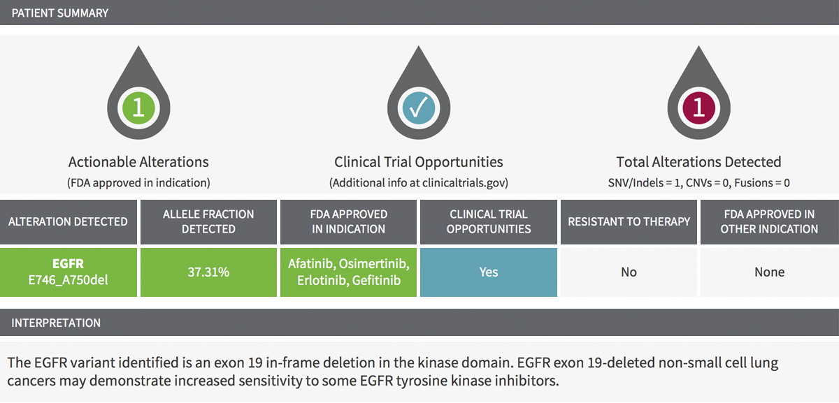 Sample InVisionFirst-Lung clinical report